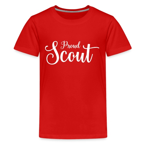 Proud Scout Lettering White - Teenager Premium T-Shirt