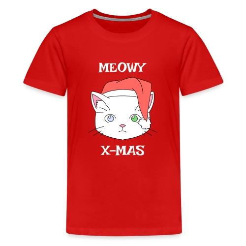 Meowy X-mas - Premium T-skjorte for tenåringer