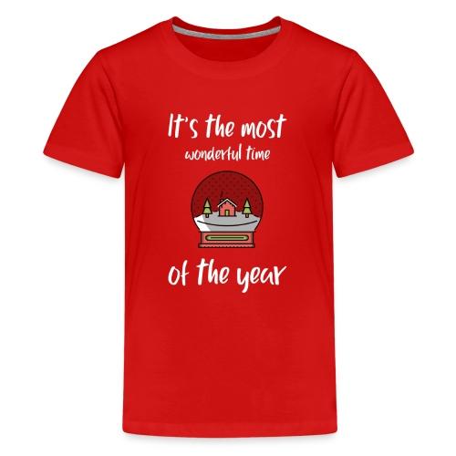 It's the most wonderful time of the year - Premium T-skjorte for tenåringer