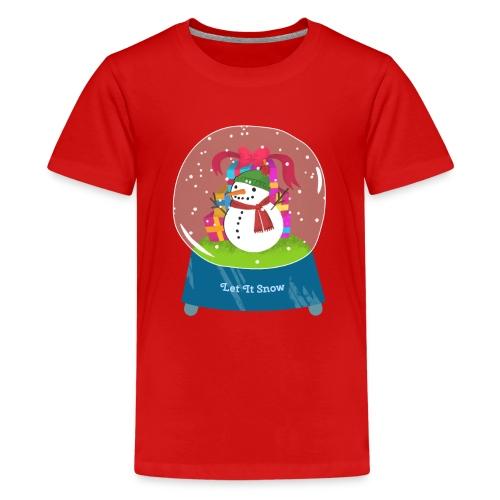 Let it snow - Premium T-skjorte for tenåringer