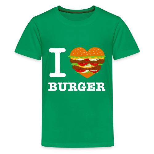 IloveBurger2 png - T-shirt Premium Ado