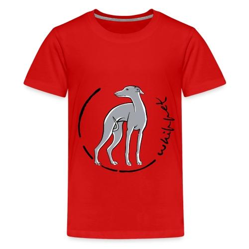 whippet trait bleu - T-shirt Premium Ado