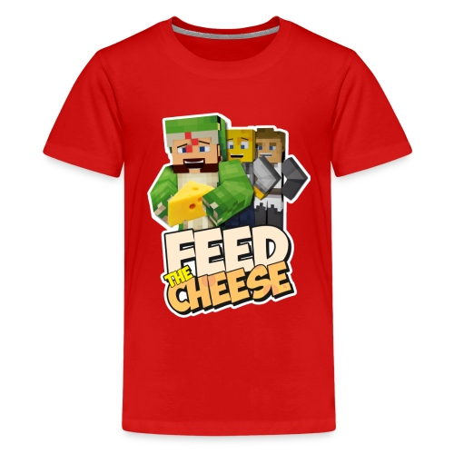 Feed The Cheese png - Teenage Premium T-Shirt