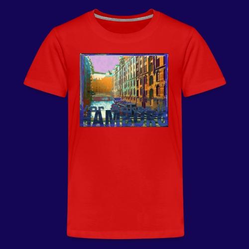 Vor Anker in Hamburg: Speicherstadt, künstlerisch - Teenager Premium T-Shirt