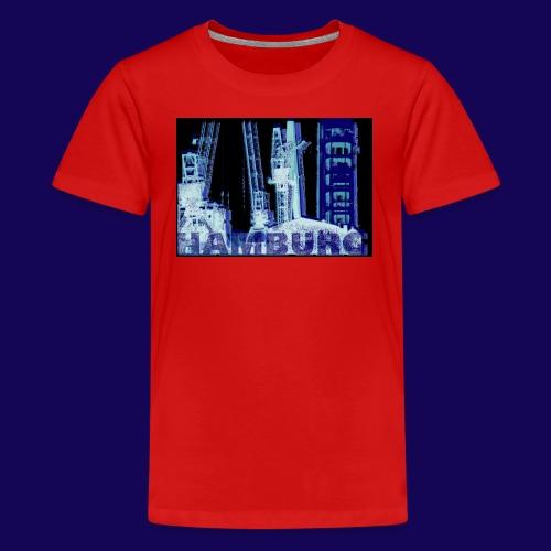 Hamburger Hafen im künstlerischen Siebdruckstil - Teenager Premium T-Shirt
