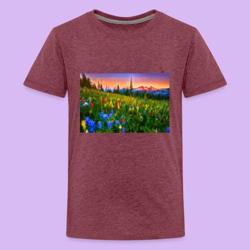 Bagliori in montagna - Maglietta Premium per ragazzi