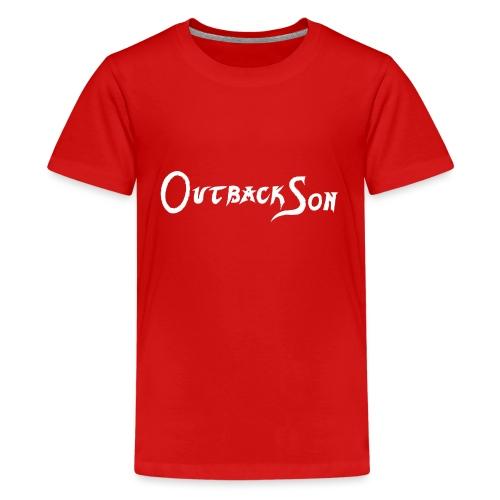 outbackson schriftzug weiß - Teenager Premium T-Shirt