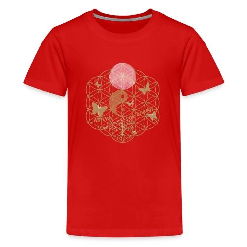 Das Leben umgeben von Energie. Blume des Lebens. - Teenager Premium T-Shirt