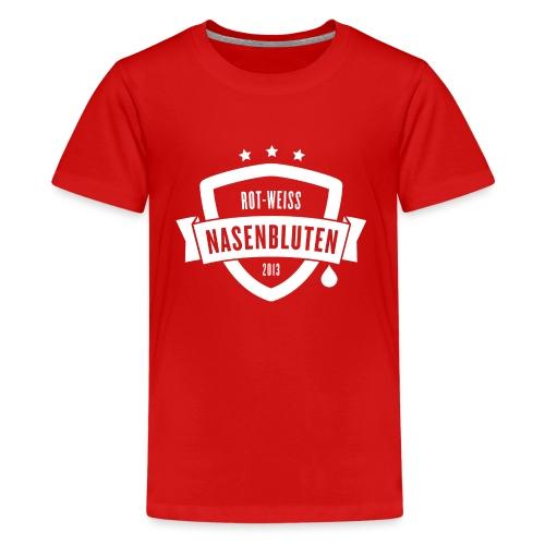 Rot-Weiß Nasenbluten e.V. - Teenager Premium T-Shirt