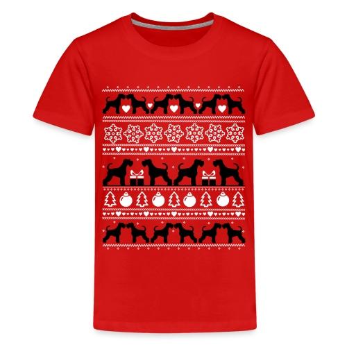 Minischnau Christmas - Teinien premium t-paita