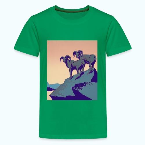 Vintage Capricorn Travel Poster - Teenage Premium T-Shirt
