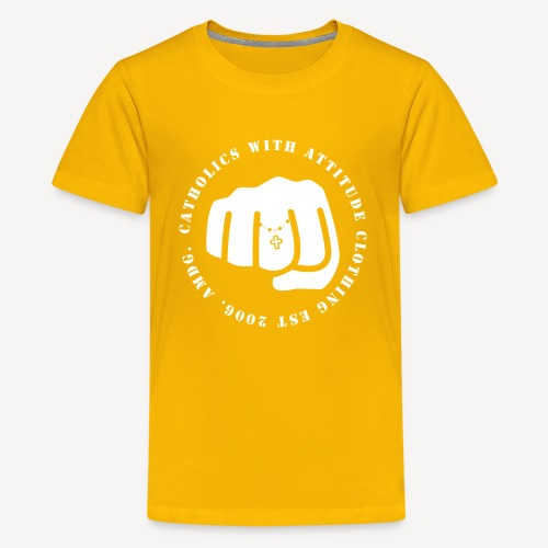 CATHOLICS WITH ATTITUDE - Teenage Premium T-Shirt