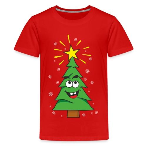 Árbol de navidad - Camiseta premium adolescente