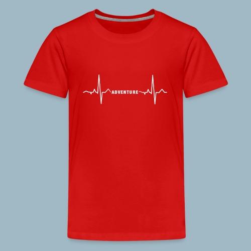 ECG long short white - Teenage Premium T-Shirt