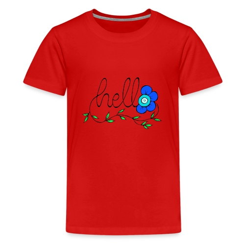 Hello Blume. - Teenager Premium T-Shirt