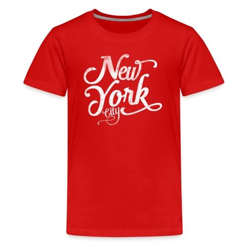 New York City typography - Teenage Premium T-Shirt