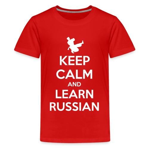 keep Calm - Learn Russian - Maglietta Premium per ragazzi