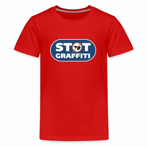støt graffiti ver 0 2 - Teenager premium T-shirt
