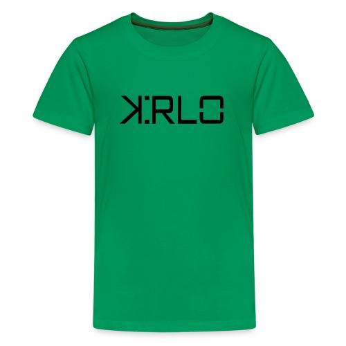 Kirlo Logotipo Negro - Camiseta premium adolescente