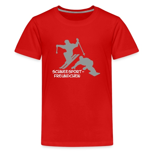 schneesportfreundchen - Teenager Premium T-Shirt