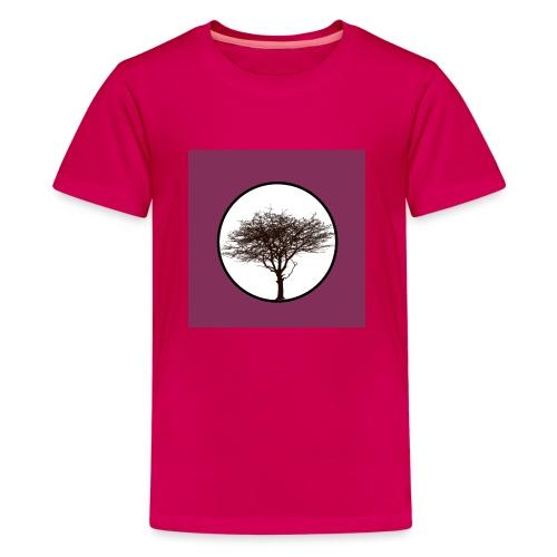 Baum in Kreis - Teenager Premium T-Shirt