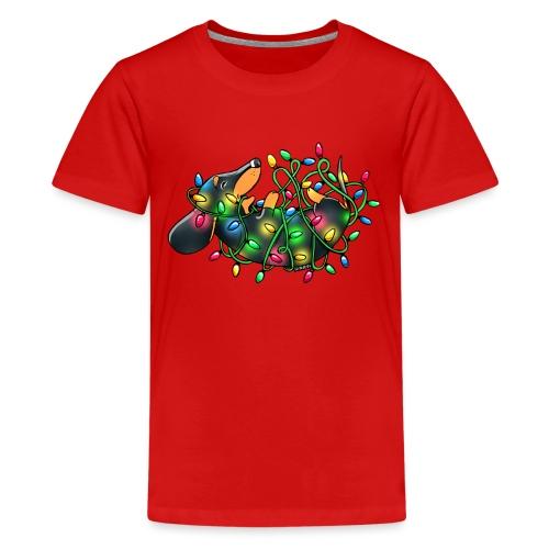 Wienerful Christmaslights - Teinien premium t-paita
