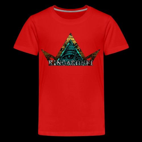 illuminati king - Premium T-skjorte for tenåringer