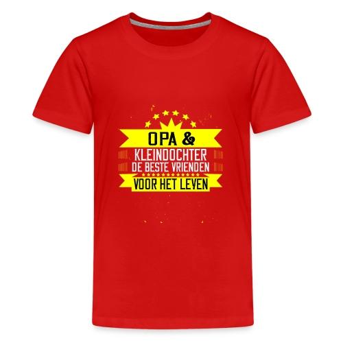 OPA EN KLEINDOCHTER BESTE VRIENDEN VOOR HET LEVEN - Teenager Premium T-shirt