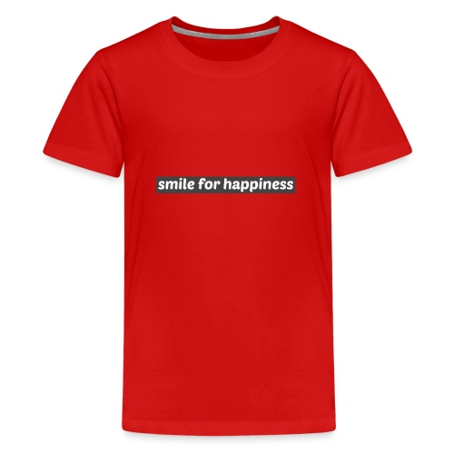 smile for happiness - Premium-T-shirt tonåring