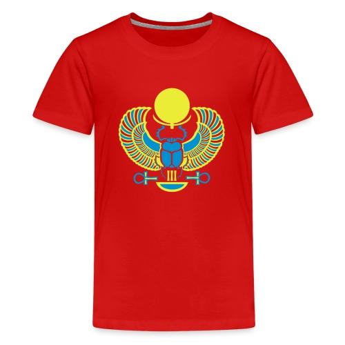 Geflügelter Skarabäus I Hieroglyphen - Teenager Premium T-Shirt