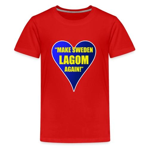Make Sweden Lagom Again - Premium-T-shirt tonåring