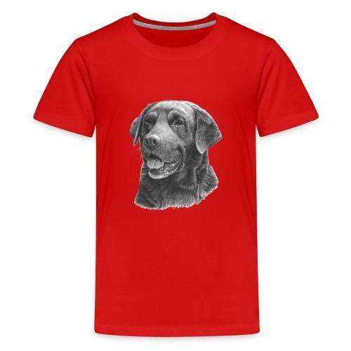 labrador bw - Teenager premium T-shirt