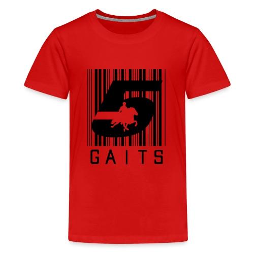 5gaitsBarcode 1 - Teenage Premium T-Shirt