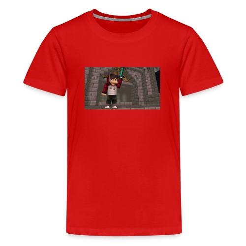 Et bilde av Meg På Miecraft - Premium T-skjorte for tenåringer