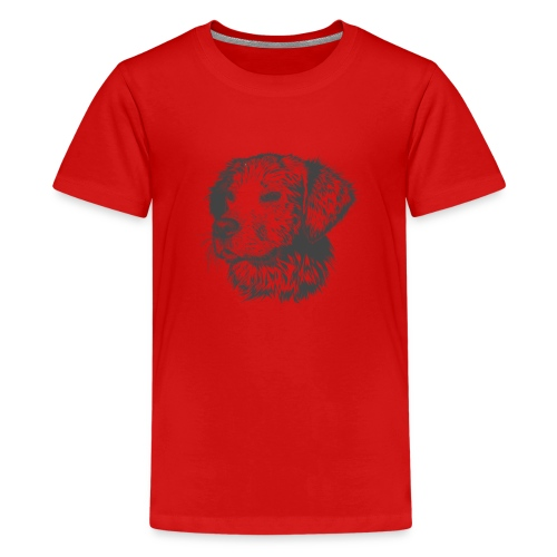 Hund Golen retriever - Teenager Premium T-Shirt