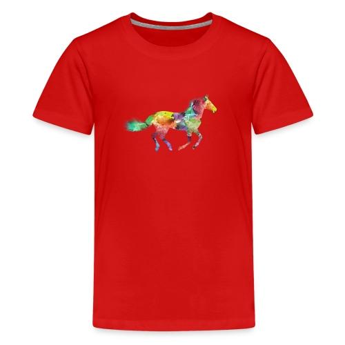 Rainbow Pferd - Teenager Premium T-Shirt