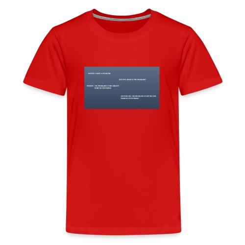 Running joke t-shirt - Teenage Premium T-Shirt
