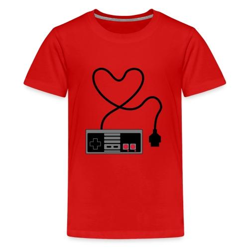 NES Controller Heart - Teenage Premium T-Shirt
