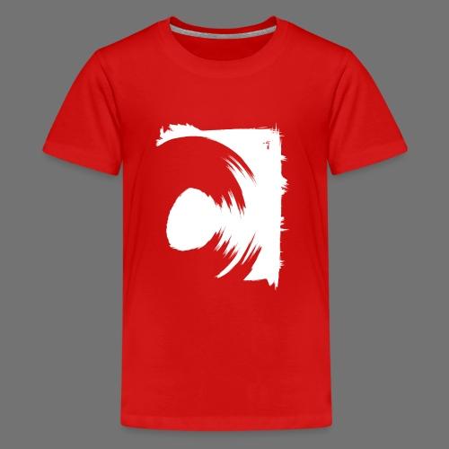 spin (valkoinen) - Teinien premium t-paita