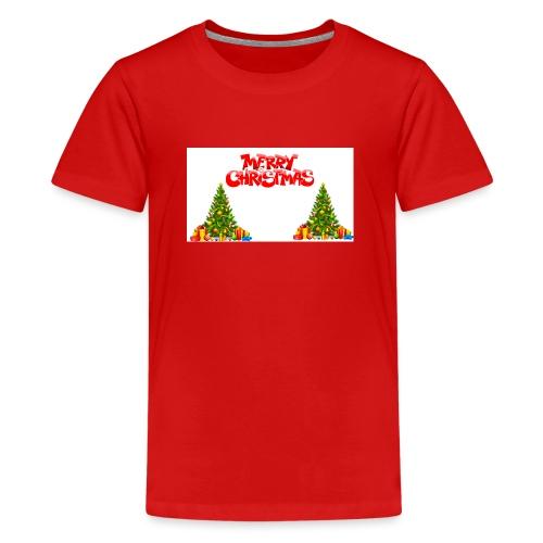 Merrry Christmas (Jule Logo!) - Premium T-skjorte for tenåringer