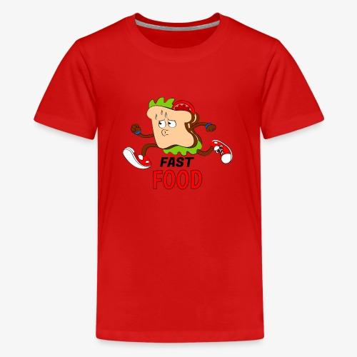 FAST FOOD - Camiseta premium adolescente