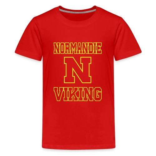 Normandie Viking Def jaune - T-shirt Premium Ado
