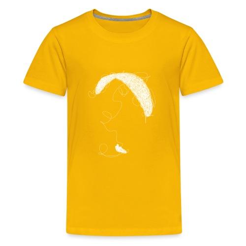 Paraglider scribble white - Teenager Premium T-Shirt
