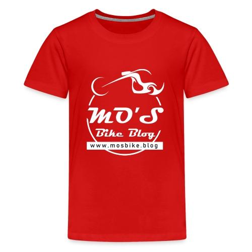 Mos Bike Blog Logo, weiß - Teenager Premium T-Shirt