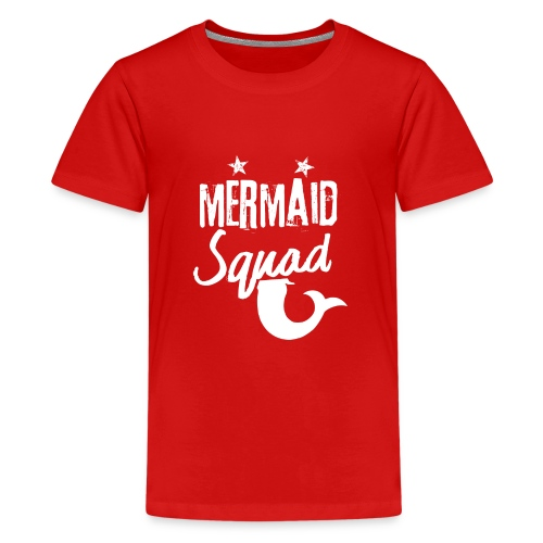 Meerjungfrau-Trupp-Kader - Teenager Premium T-Shirt