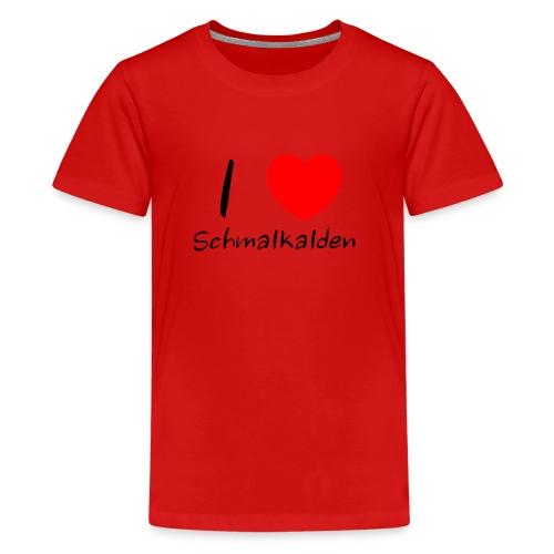 Ein Herz für Schmalkalden - Teenager Premium T-Shirt