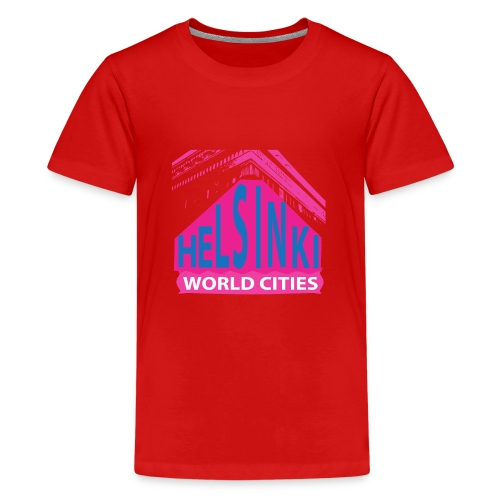 Helsinki2 pink2 - Teenage Premium T-Shirt