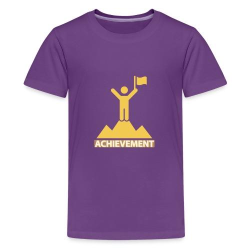 Achievement typo by CloudMonde - Teenage Premium T-Shirt