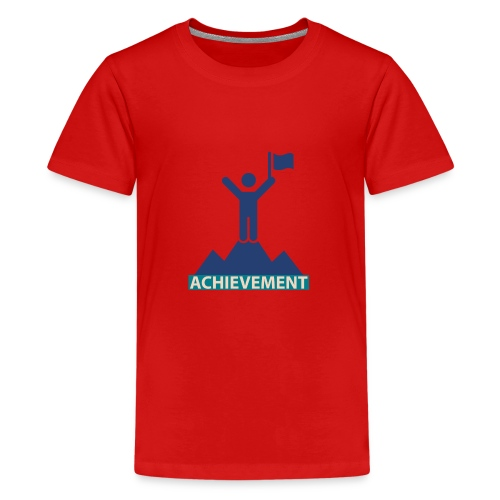 Typo Achivement by CloudMonde - Teenage Premium T-Shirt