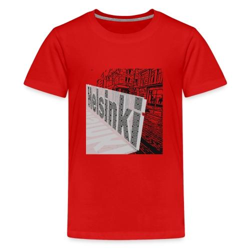 helsinki tram typo - Teenage Premium T-Shirt
